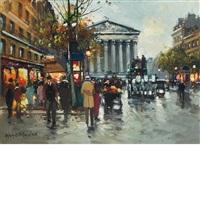 rue royale, madeleine by antoine blanchard