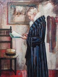 portrait of maurice chevalier by bernard locca