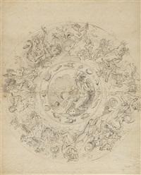 2 bll.: ornamententwürfe mit darstellungen von neptun und amphitrite by anonymous-dutch (16)
