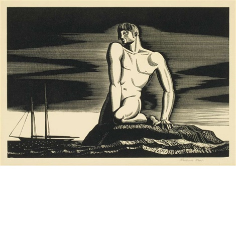 the bather by rockwell kent