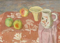 jug and fruit by william george gillies