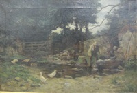 a shady corner on a dartmoor farm by alexander carruthers gould
