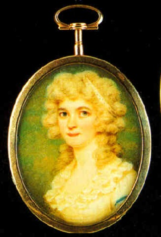 anne huntley foote in white dress, a bandeau in her blonde hair by edward miles