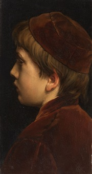 portrait of a youth by josef hendrik hubert lies