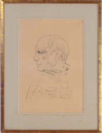 portrait de picasso, with temoignage by paul lemagny