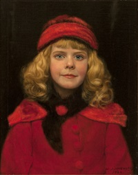girl in red hat by william j. mccloskey