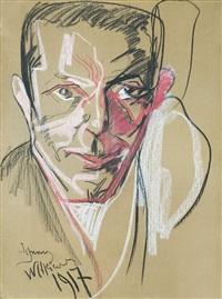 portrait of a man by stanislaw ignacy witkiewicz