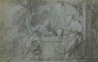 le christ et la samaritaine au puits by françois (le moine) le moyne