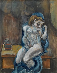 draped figure by max weber