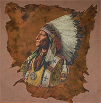 chief wolf robe by william mckendree snyder