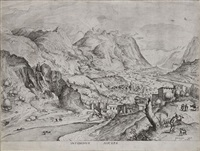 insidiosus auceps (l'oiseleur avisé)(from grands paysages) by pieter brueghel the elder