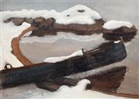 a winter shore by akseli valdemar gallen-kallela