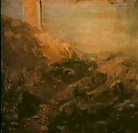 paesaggio con rudere by serafín avendaño