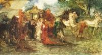 l'arrivo della carrozza by giuseppe rivaroli