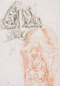 ohne titel (design for wall decoration) by giovanni francesco penni