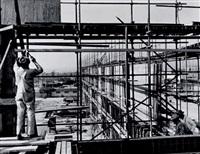 construction de l'immeuble cbs-tv (3 works) by ezra stoller