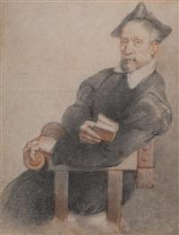 porträt eines klerikers (nach dem gemälde von giovanni battista moroni (1525-1578)