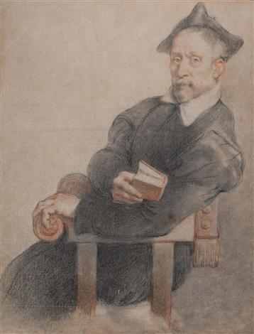 porträt eines klerikers nach dem gemälde von giovanni battista moroni 1525 1578 tizians lehrer by federico zuccaro