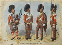 72nd duke of albanys own highlanders by richard simkin