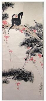monkey in tree by qi feng gao