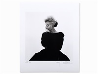 marilyn in black dress by bert stern