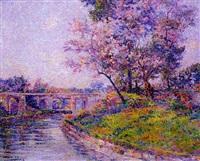 pont sur la rivière by henri aurrens
