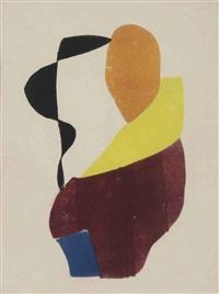 hot printing 8 (vrouw met gele sjaal) by hendrik nicolaas werkman