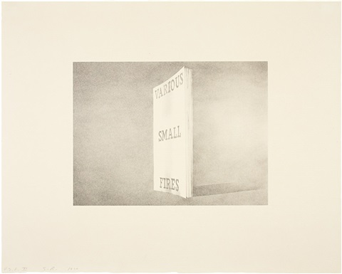 various small fires from book covers series by ed ruscha