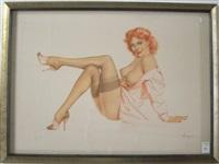 silk stockings by alberto vargas