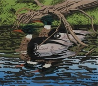 two mergansers by neil welliver