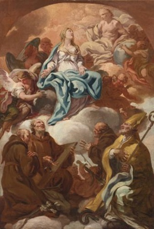 adoration of the virgin by corrado giaquinto