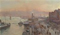 blick auf istanbul by ferdinand otto leiber