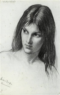 the kelpie (study) by herbert james draper
