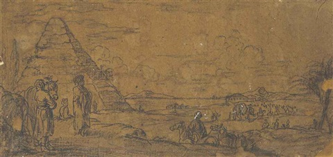 a series of bambocciante military and maritime subjects 10 works by cornelis de wael