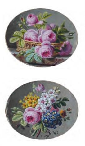 panier de roses bouquet de fleurs pair by jan frans van dael
