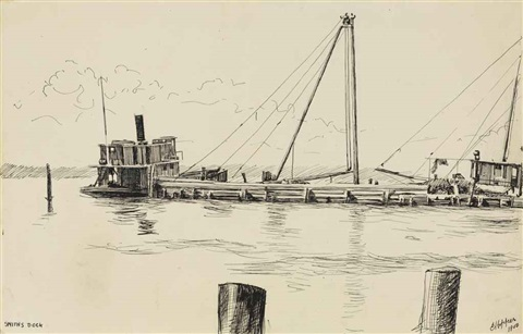 smiths dock by edward hopper
