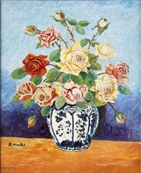bouquet de roses by elisée maclet