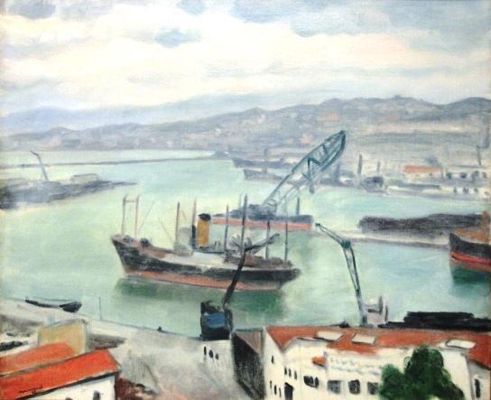 cargo dans le port by albert marquet