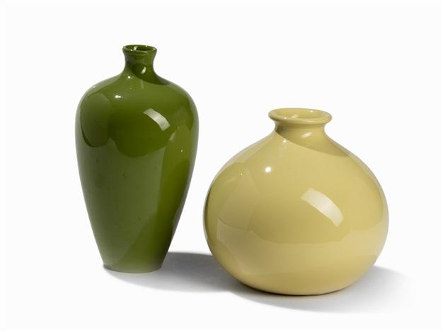 Richard Ginori Two Ceramic Vases Italy 1950s By Richard Ginori On