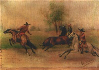 enlazando un toro by ernesto icaza