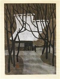 winter in saga kyoto by kiyoshi saito