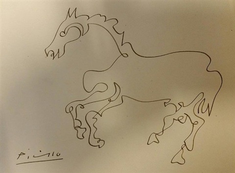 Line Art By Picasso : Horse line drawing by pablo picasso on artnet
