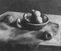 pear and fruits still life by aleen aked