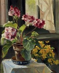bloemen in een interieur by moricz goth