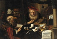 merchants counting money by salomon koninck