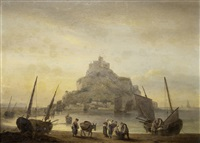 st. michael's mount, cornwall by thomas luny