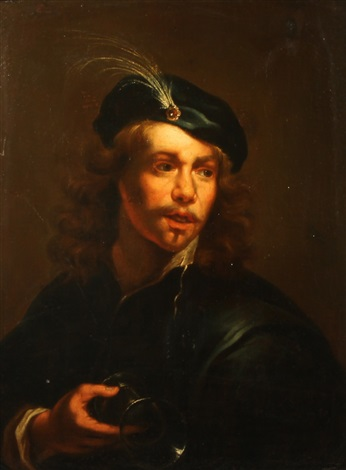 a young man with a glass by gerbrand van den eeckhout