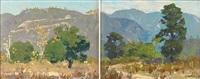 southern california landscape (diptych) by ferdinand kaufmann