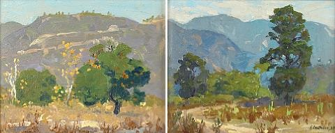 southern california landscape diptych by ferdinand kaufmann