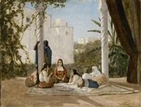 le thé sur la terrasse by françois lauret